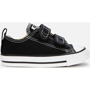 Converse Toddlers' Chuck Taylor All Star Ox Velcro Trainers - Black - Uk 4 Baby 7v603c Childrens Footwear, Black