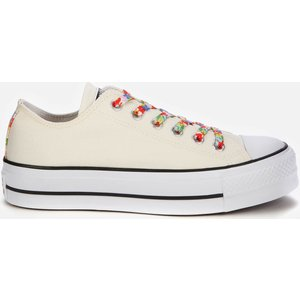 Converse Women's Chuck Taylor All Star Garden Party Platform Ox Trainers - White - Uk 5 570920c Mens Footwear, White