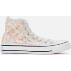Converse Women's Chuck Taylor All Star Hi-top Trainers - Egret/multi/black - Uk 8 568277c Womens Footwear, Multi