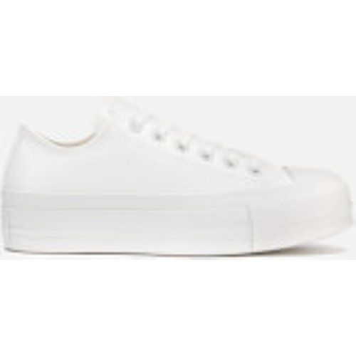 Converse Women's Chuck Taylor All Star Lift Ox Trainers - Vintage White/vintage White - Uk 564429c 103 Womens Footwear