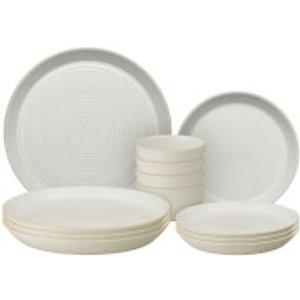 Denby Impression Cream 12 Piece Dining Set 438042512 Kitchen, Cream