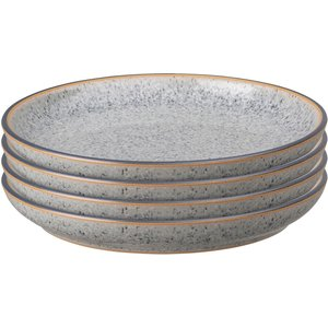 Denby Studio Grey Small Coupe Plate Set (set Of 4) 426042113 Kitchen, Grey