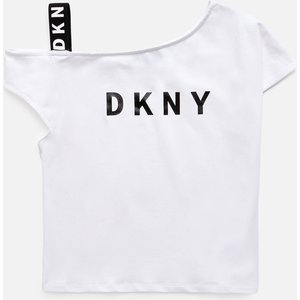 Dkny Girls' Off The Shoulder T-shirt - White - 14 Years D35r44 Girls Clothes, White