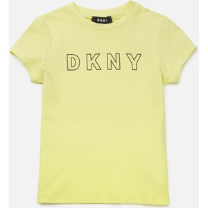 Dkny Girls' Outline Logo T-shirt - Yellow - 8 Years D35r23 Girls Clothes, Pink