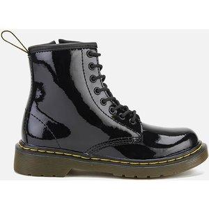 Dr. Martens Kids' 1460 J Patent Limper Lace Up Boots - Black - Uk 3 Kids - Black 15382003 Childrens Footwear, Black