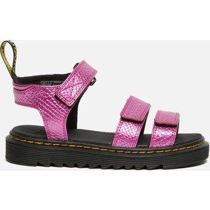 Dr. Martens Kids' Klaire Sandal - Pink Reptile Emboss - Uk 10 Kids 26685650 Childrens Footwear, Pink