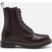 Dr. Martens Women's 1460 Serena Fur Lined Leather 8-eye Boots - Oxblood - Uk 8 26238601 Womens Footwear, Red