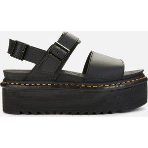 Dr. Martens Women's Voss Quad Double Strap Sandals - Black - Uk 8 26725001 Womens Footwear, Black