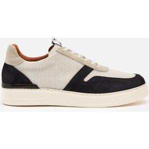 Duke + Dexter Men's Ritchie Capri Suede/mesh Cupsole Trainers - Black/white - Uk 7 Ritchiec Mens Footwear, White