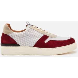 Duke + Dexter Men's Ritchie Rio Suede/mesh Cupsole Trainers - Red/white - Uk 8 Ritchier Mens Footwear, Red