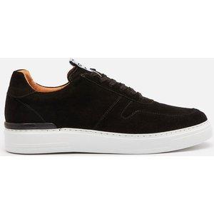 Duke + Dexter Men's Ritchie Suede Cupsole Trainers - Black - Uk 8 Ritchieb Mens Footwear, Black