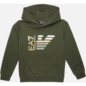 Ea7 Boys' Capsule Collection Hoodie - Khaki - 10 Years 3kbmk1bj05z1862 Childrens Clothing, Green
