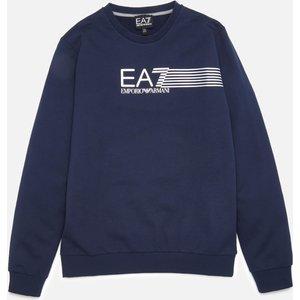 Ea7 Boys' Train Lines Sweatshirt - Navy - 14 Years 3kbm55bj05z1554 Childrens Clothing, Blue