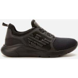 Emporio Armani Ea7 Men's Eagle Logo Runner Trainers - Triple Black - Uk 9 X8x057 M620 Mens Footwear, Black