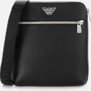 Emporio Armani Men's Leather Cross Body Bag - Black Y4m218ysl5j Mens Accessories, Black