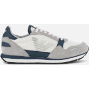 Emporio Armani Men's Running Style Trainers - Plaster/midnight - Uk 10 X4x215 Xl198 D290 Mens Footwear, Grey