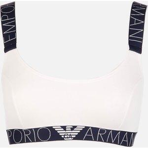 Emporio Armani Women's Iconic Logoband Bralette Bra - White - S 1p227 163651 General Clothing, White