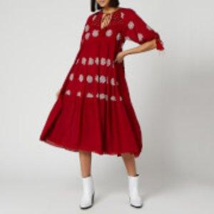 Free People Women's Celestial Skies Maxi Dress - Red Combo - Xs Ob911247 6004 Womens Dresses & Skirts