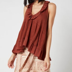 Free People Women's Out And About Tank Top - Petrichor - M Ob1237598 2200 Mens Tops, Brown