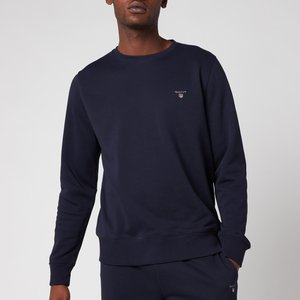 Gant Men's Original Sweatshirt - Evening Blue - Xl 2046072433 General Clothing, Blue