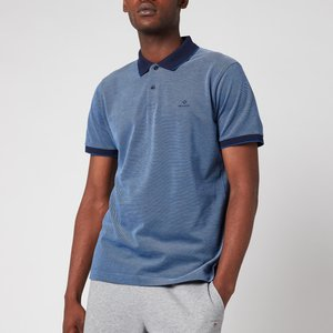 Gant Men's Oxford Pique Polo Shirt - Persian Blue - S 2012012423 General Clothing, Blue