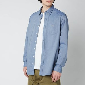 Gant Men's Regular Fit Oxford Shirt - Persian Blue - L 3046000423 General Clothing, Blue