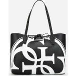 Guess Women's Reversible Bobbi Logo Tote Bag - Black/white Hwak6422150bmb Womens Accessories