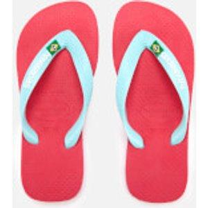 Havaianas Kids' Brasil Logo Flip Flops - Flamingo - Eu 31-32/uk 13 Kids - Pink 4110850 0579 Childrens Footwear, Pink
