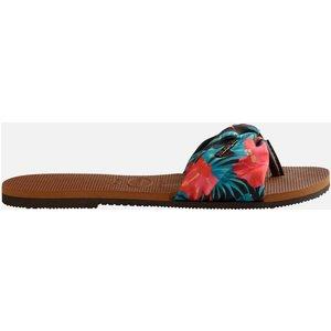 Havaianas Women's Saint Tropez Slide Sandals - Rust - Uk 8 4140714 1976 Mens Footwear, Tan