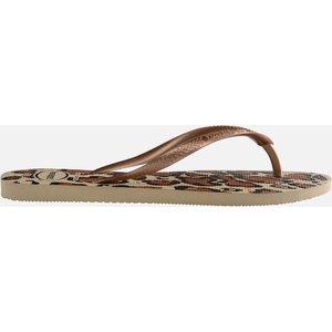 Havaianas Women's Slim Animals Flip Flops - Sand Grey/rose Gold - Uk 3/uk 4 4103352 4879 Mens Footwear, Gold