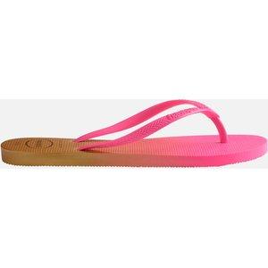 Havaianas Women's Slim Gradient Flip Flops - White/fluorescent Pink - Uk 6/uk 7 4146097 8890 Mens Footwear, Pink