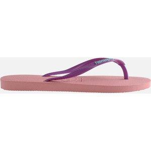 Havaianas Women's Slim Logo Flip Flops - Macaron Pink - Uk 6/uk 7 4119787 5217 Mens Footwear, Pink