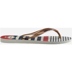 Havaianas Women's Slim Nautical Flip Flops - Gold - Uk 5 4137125 5674 Mens Footwear, Blue