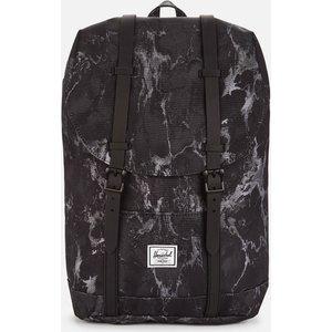 Herschel Supply Co. Men's Retreat Mid Volume Backpack - Black Marble 10329 04896 Os Mens Accessories, Black