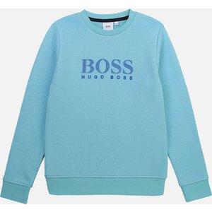 Hugo Boss Boys' Logo Sweatshirt - Sea Green - 14 Years J25l34.748 Childrens Clothing, Green