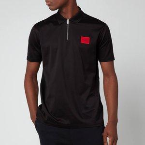 Hugo Men's Half Zip Polo Shirt - Black - S 50458180 001 General Clothing, Black