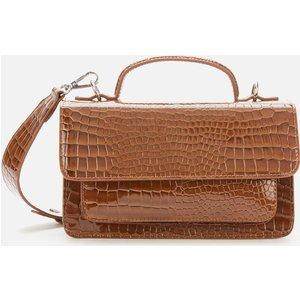 Hvisk Women's Tate Croco Cross Body Bag - Brown H1749 Womens Accessories, Brown