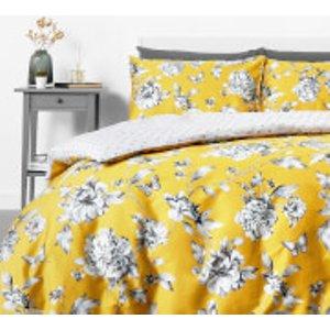 In Homeware Sophie Floral Duvet Set - Yellow - Single 104 Home Textiles
