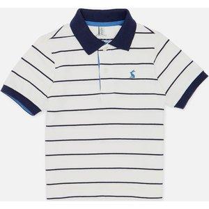 Joules Boys' Filbert Stripe Polo Shirt - White Stripe - 4 Years 211929 Whitestrip Childrens Clothing, White