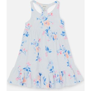 Joules Girls' Juno Floral Dress - White Floral Stripe - 5 Years 213615 Whtflrlstr Childrens Clothing, White