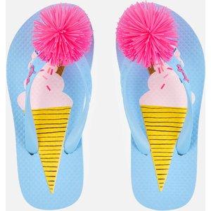 Joules Kids' Flip Flops - Blue Ice Cream - Uk 13 Kids 212688 Blueicecrm Childrens Footwear, Blue
