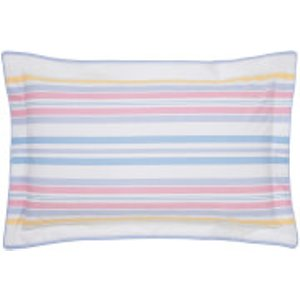 Joules Summer Fruit Stripe Oxford Pillowcase - Pink Ducsfsmomul Home Textiles, Pink