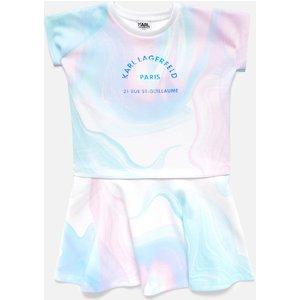 Karl Lagerfeld Girls' Marble Dress - 10 Years Z12174 Childrens Clothing, Multi