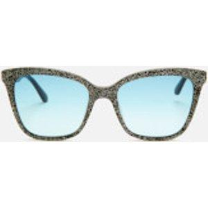 Karl Lagerfeld Women's Butterfly Frame Sunglasses - Black Glitter Kl988s 5418 002 Womens Accessories, Black