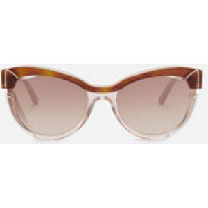 Karl Lagerfeld Women's Cat Eye Frame Sunglasses - Blonde Havana/pink Kl987s 5820 090 Womens Accessories, Pink/Brown
