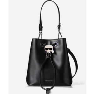 Karl Lagerfeld Women's K/ikonik Bucket Bag - Black 205w3056 Womens Accessories, Black