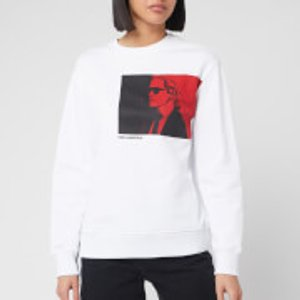 Karl Lagerfeld Women's Legend Sweatshirt - White - Xs 200w1891  100 Womens Tops, White