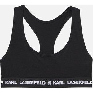 Karl Lagerfeld Women's Logo Bralette - Black - Xs 211w2102 Bras, Black