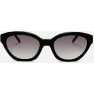 Karl Lagerfeld Women's Oval Frame Sunglasses - Black Kl989s 5320 001 Womens Accessories, Black