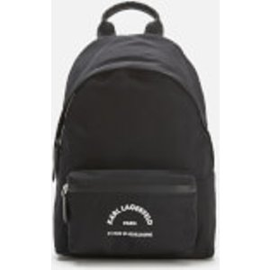 Karl Lagerfeld Women's Rue St Guillaume Medium Backpack - Black 205w3032 A999 Womens Accessories, Black